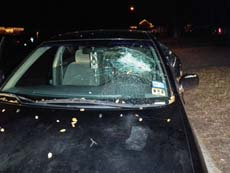 Broken Windshield in Portland Oregon, step 1: Removing the Windshield