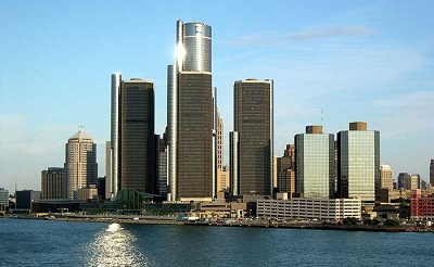 City of Detroit Skyline