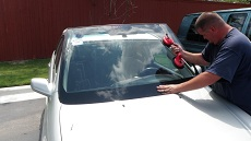 Installing Windshield in Baltimore MD, step 3: Setting New Windshield