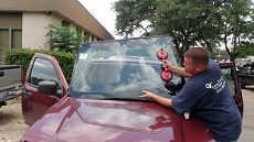 Installing Windshield in Charlotte NC, step 3: Setting New Windshield