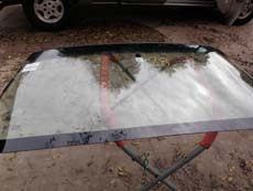 Installing Windshield in Dallas TX, step 3: Setting New Windshield