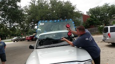 Installing Windshield in Denver CO, step 3: Setting New Windshield