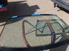 Installing Windshield in Orlando FL, step 3: Setting New Windshield