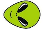 Alien Auto Glass Logo Head Agqz