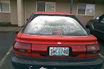 1990 Geo Prizm 4 Door Hatchback Back Glass