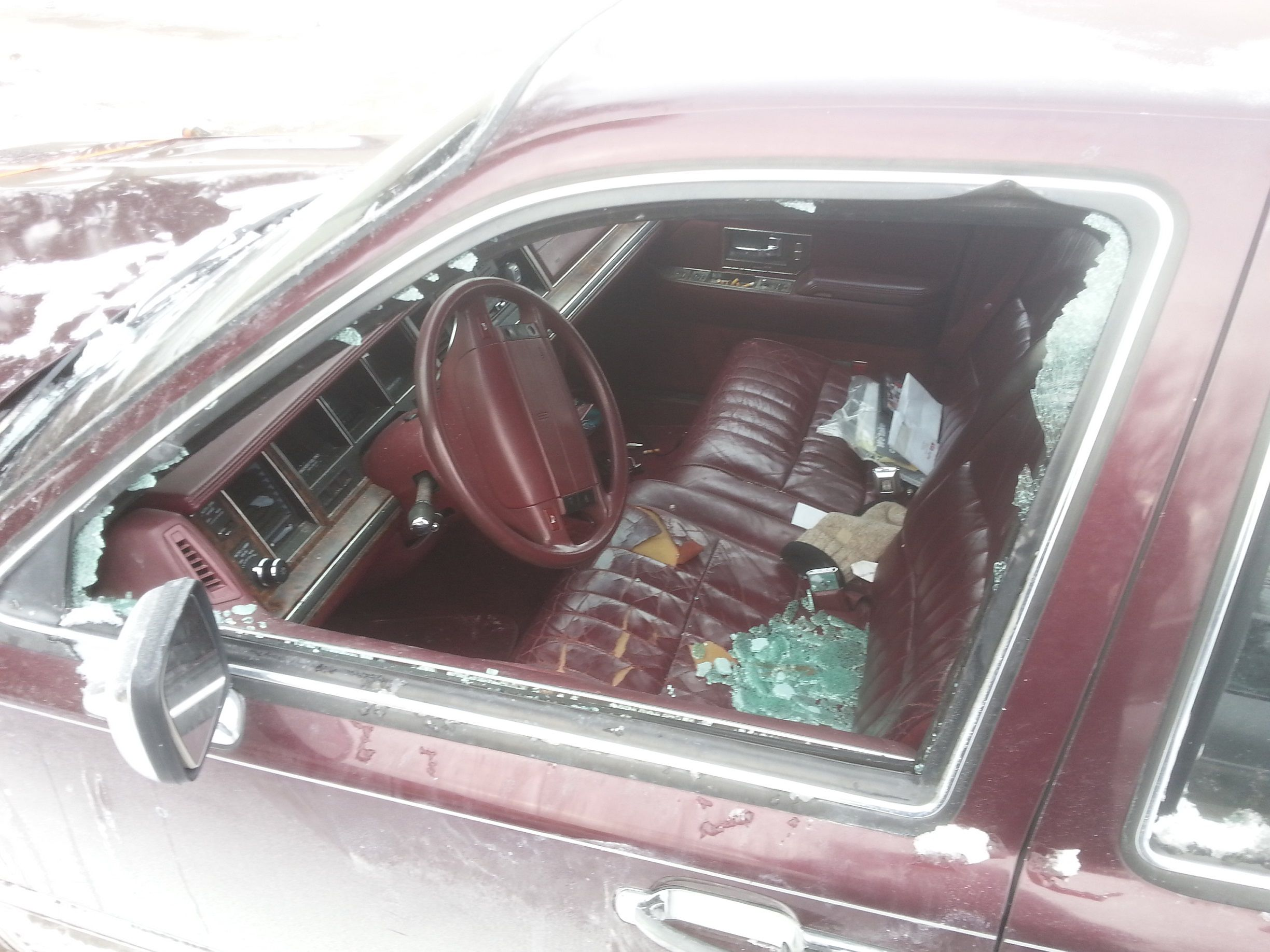 1990 Lincoln Town Car Front Driver S Side Door Gl