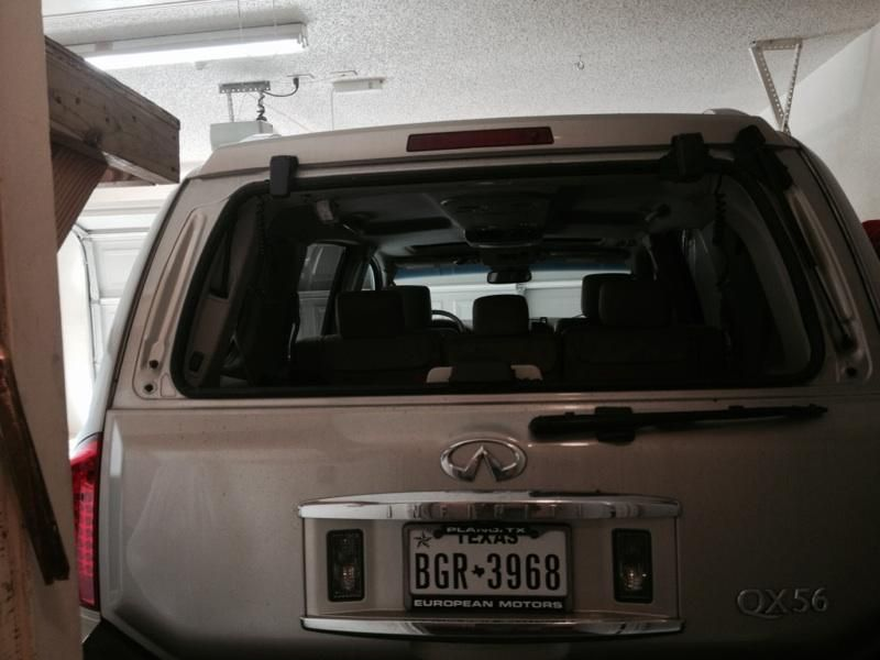 Service manual how to replace 2008 infiniti qx56 rear for Back door with window that opens
