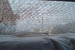 2009 Kia Spectra 4 Door Sedan Back Glass